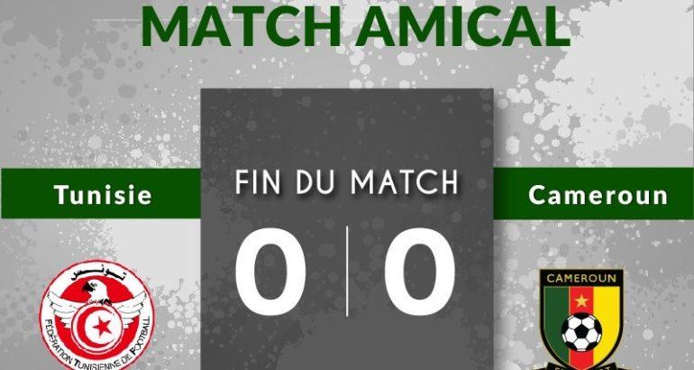 Tunisie Cameroun 0-0, score final