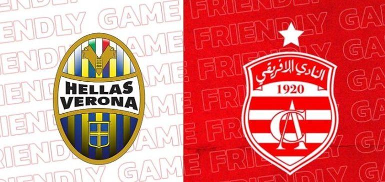 Match amical le 22 décembre entre le CA et le Hellas Verone