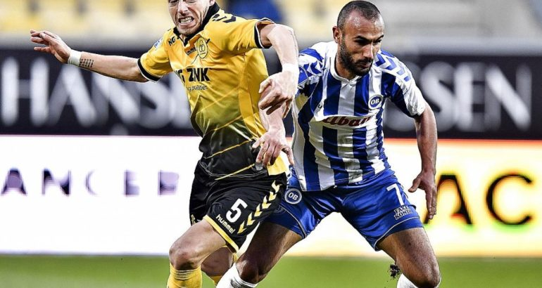 Issam Jebali, le joueur tunisien d'Odense OB face à Horsens (Superliga/DAN)
