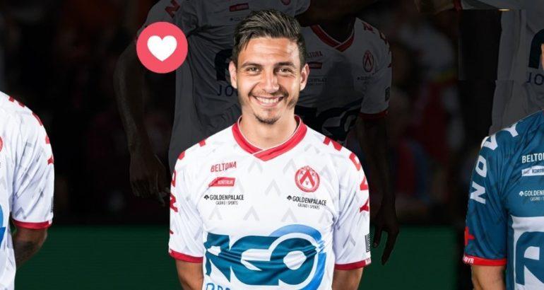 Larry Azouni, nominé pour être élu homme du match face au FC Malines
