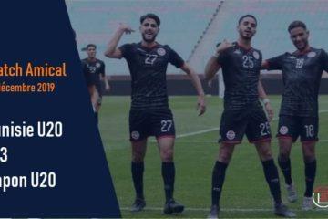 Tunisie U20 : Défaite (1-3) face au Japon en amical
