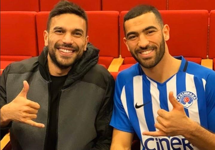 Oussama Haddedi et Yassine Meriah, joueurs de Kasimpasa SK en Turquie